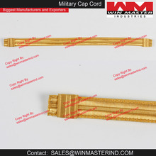 Gold Lace Chin Strap for Military Naval Bandsman Peaked Cap