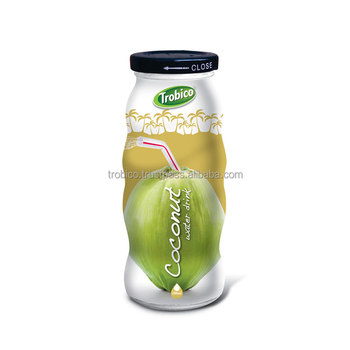 325ml Glass Bottled Coconut Water-VietNam Manufacturer-OEM Fruit Juice-From Trobico Brand