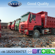 Low mileage second hand HOWO 6x4 tipper truck for sale