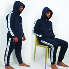 Men Fitness Tracksuit with Custom Side Stripes