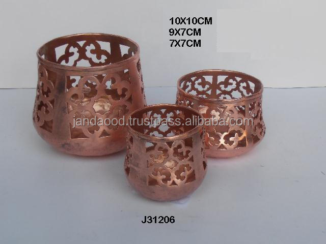 Laser cut patterns Iron votive with tyrpe base it can be in any colours and pattern