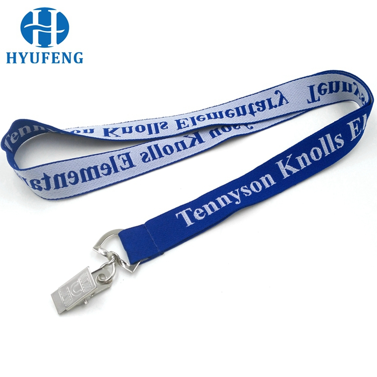 New design jacquard airline neck woven lanyard
