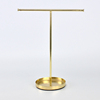 K/D T Shape Design Metal Jewelry Holder with Base