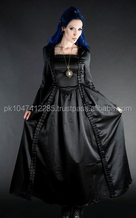 LADIES BLACK BAROQUE DRESS/PIN UP DRESS