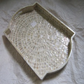 Made in Vietnam, crafts, teardrop, mosaic boys, rectangle, White, tray