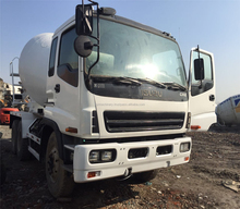 ISUZU 8 cubic meters used concrete mixer truck with pump