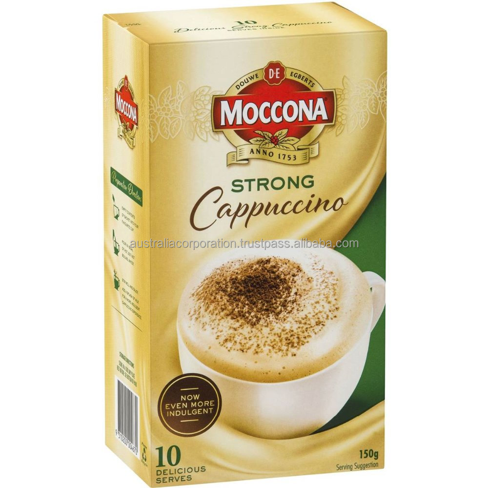 Moccona Strong Cappuccino Instant Coffee Sachets 10 pack 150g