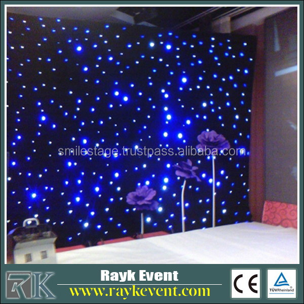 RK star curtain led stage backdrop cloth sliding door wardrobe cloth