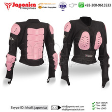 Newly Fashion Safety Jacket For Sale Ladies Full Body Protection Jackets Pink Color Reflective Safety Jacket BIkers Apparels