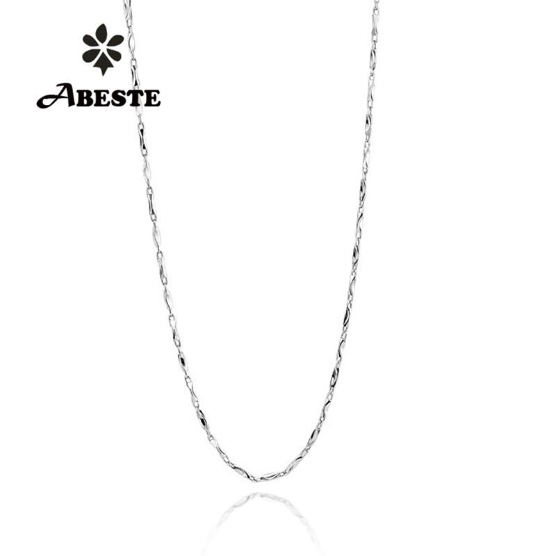 ABESTE Wholesale Fashion Jewelry 925 Sterling Silver Twisted neck Link chain Necklace Classic Style