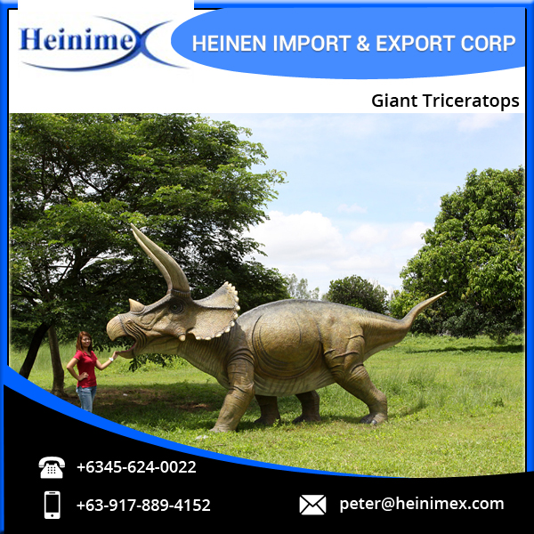 High Quality Best Simulation Jurassic Park Dinosaur Giant Triceratops Model