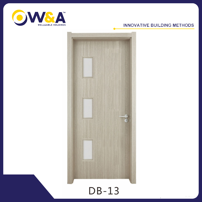 Eco-Friendly Waterproof WPC Interior Door for Bedroom Bathroom