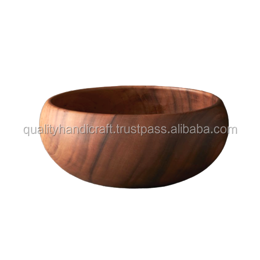 2020 High Quality Eco friendly  wooden dish food serving bowl for kitchen From India
