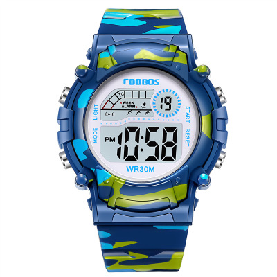 2020 Hot Seller coobos spot children's electronic watches luminous waterproof Korean sports watch <strong>1015</strong>