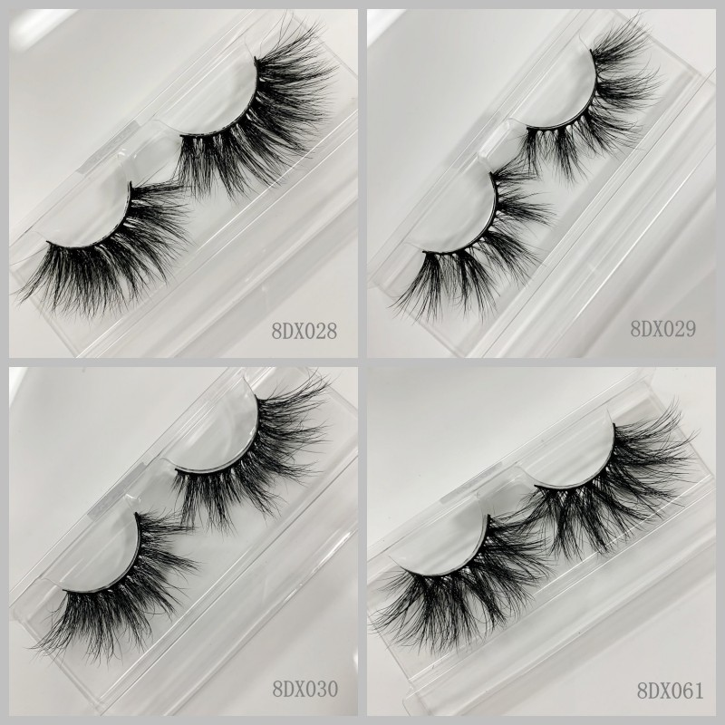 Custom Own Brand thick dramatic eyelashes long soft 3d 25mm mink eyelashes with high quality