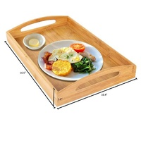 Amazon's Choice Large Bamboo Wood Serving Trays With Handle