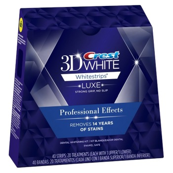 Wholesales Price For Crest 3D White Luxe Whitestrips Professional Effects White Teeth Whitening 1 box 20 pouches 40 strips crest