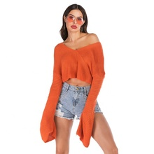 Wellco 2019 short sweater women'<strong>s</strong> autumn loose lazy wind sweater