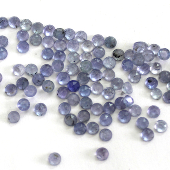 Natural 2mm Tanzanite round rose cut stone loose gemstone