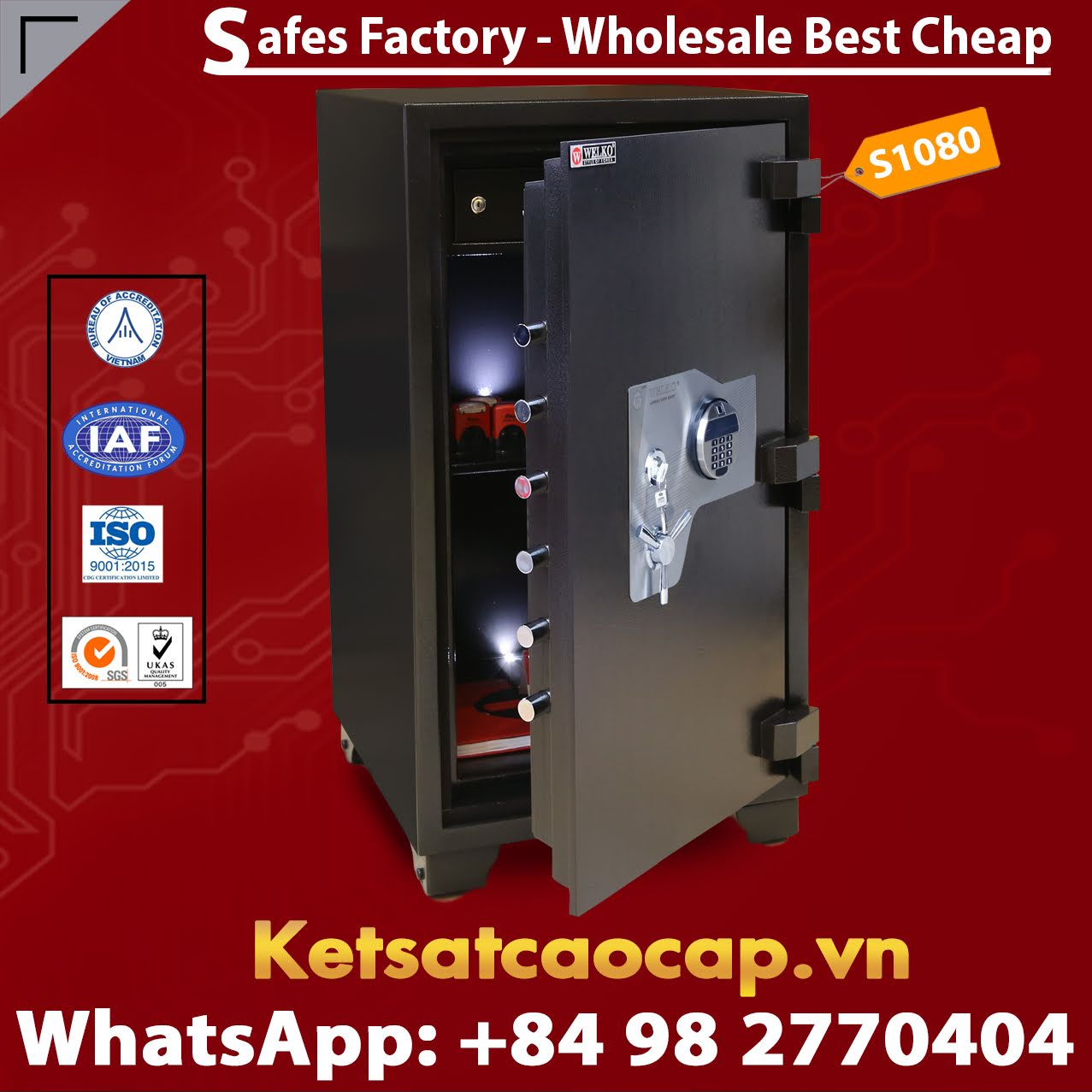 Fashion Design And Fingerprint Electronic Safe Box - New Secure Safe - New Design - High Quality - From WELKO Safes
