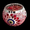 Wholesale Turkish Style Home Hotel Decoration Traditional Handmade Glass Mosaic Candle Holder