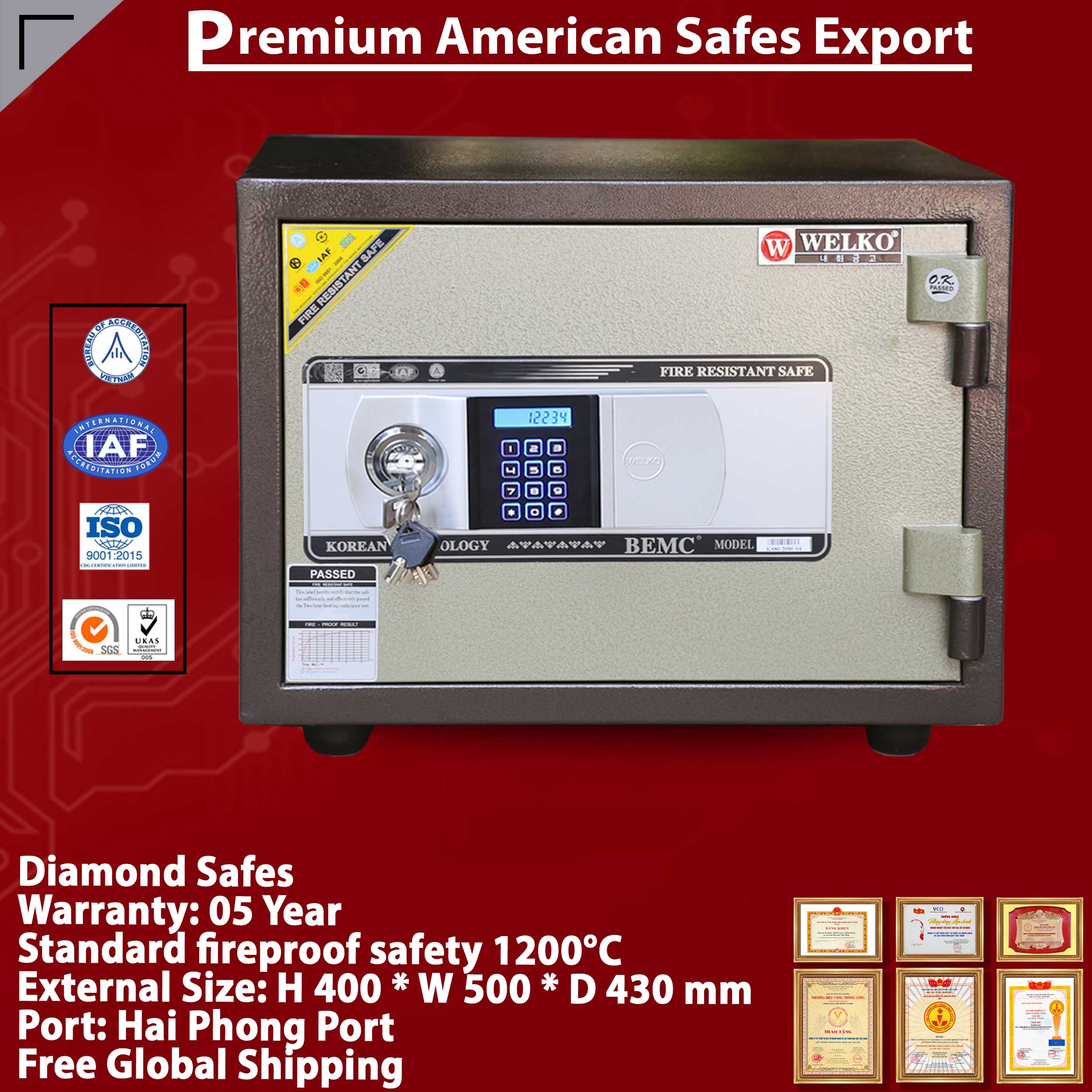 Diamond Safe KS80N Silver EVN Black