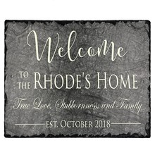 creating fully customized slate plaques - Personalized House Sign with mounting hardware. Improve the curb appeal of property