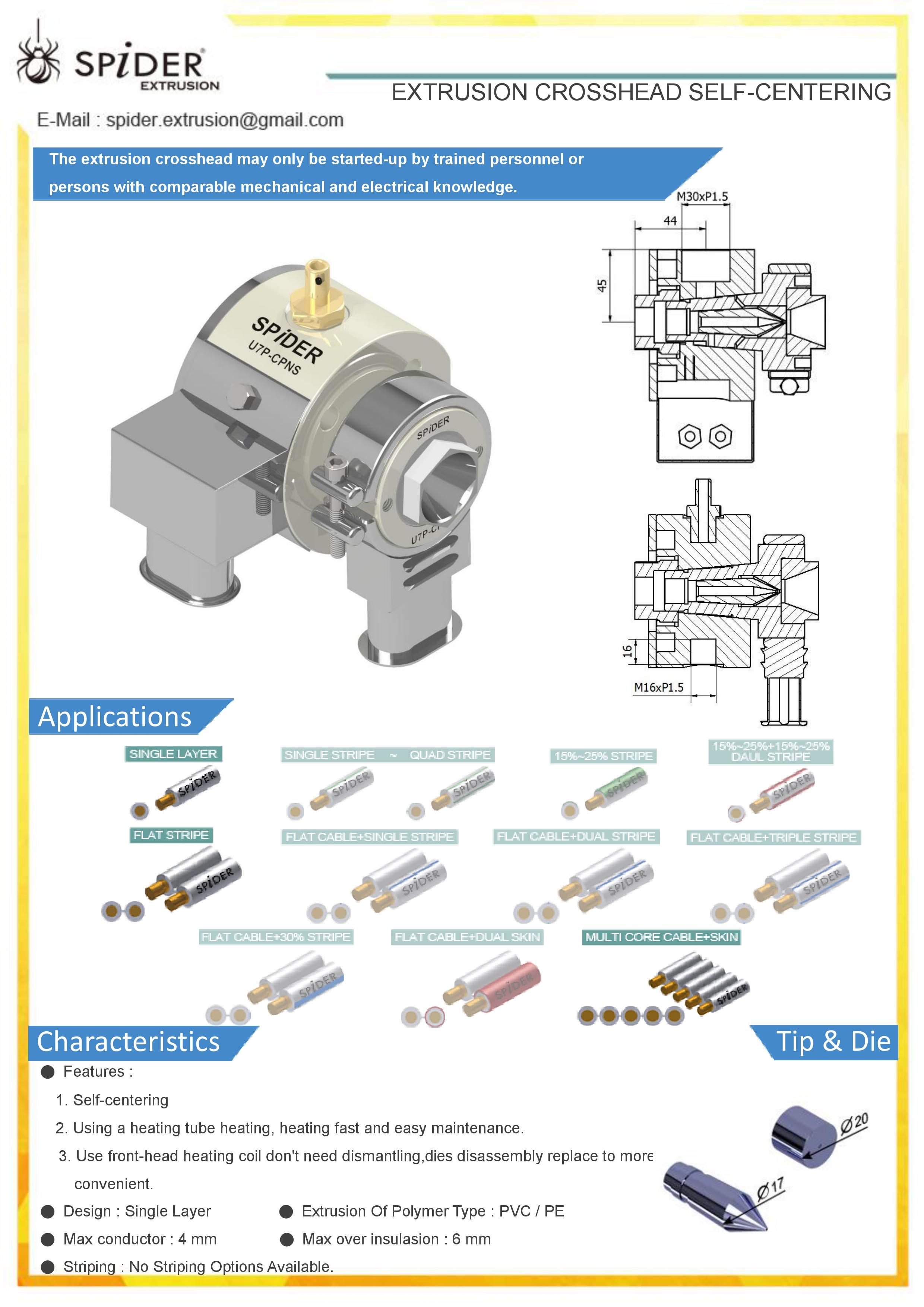 mould processing use fixed centering extrusion crosshead