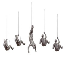 Hanging Industrial Vintage Resin Creative Climbing Man Wall Sculptures <strong>Art</strong>
