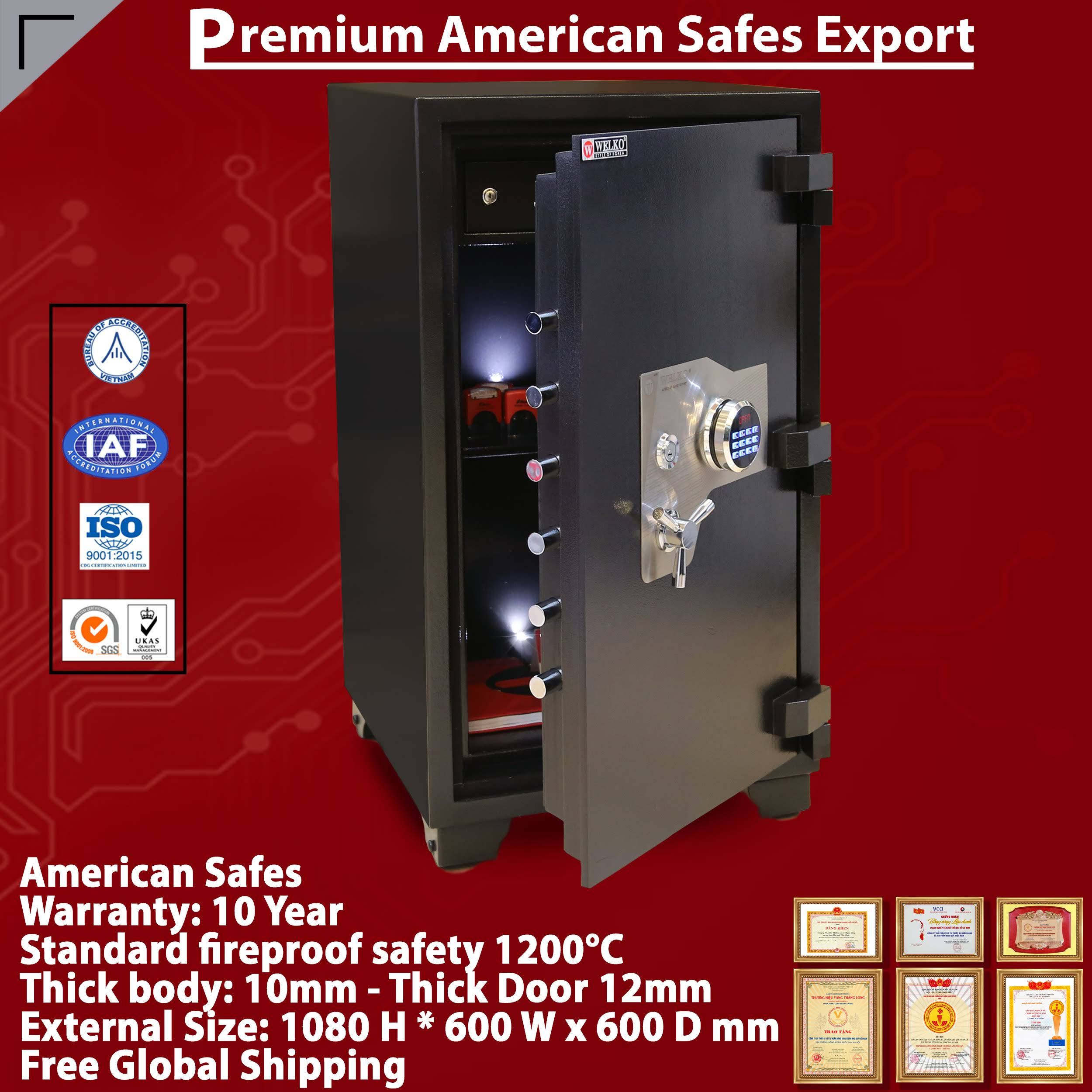 Best Seller Product 2019 WELKO Electronic Safes - Newest Model - Newest Locking System - High-Quality Secure Safes