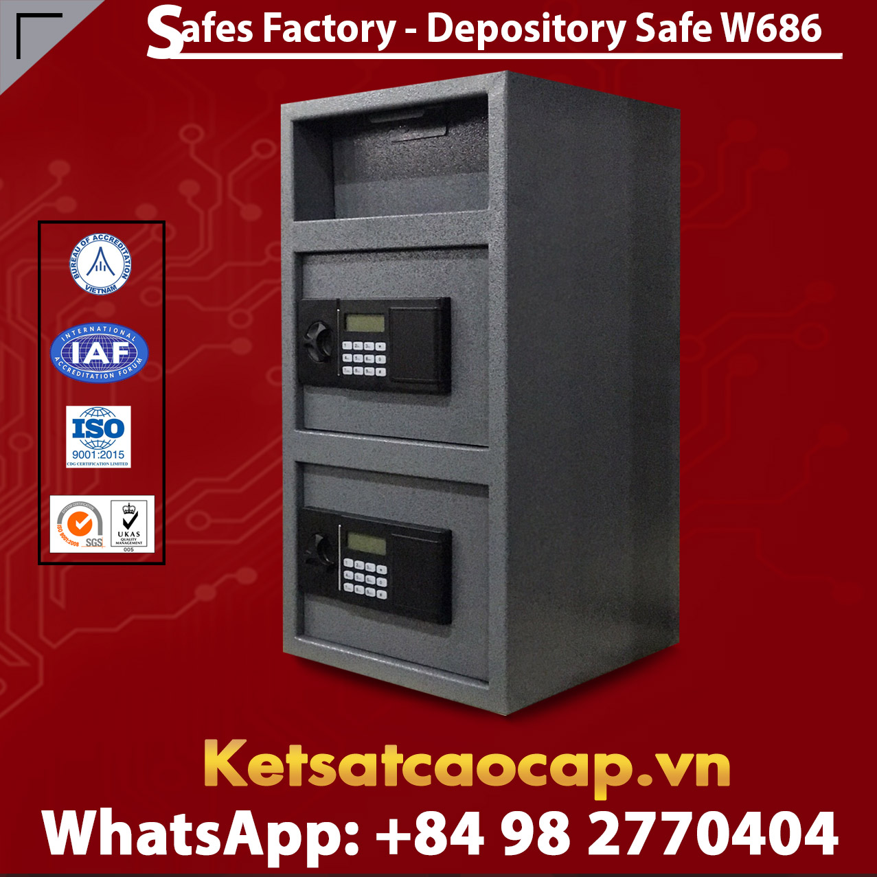 High quality Depository Safes W686 Gray