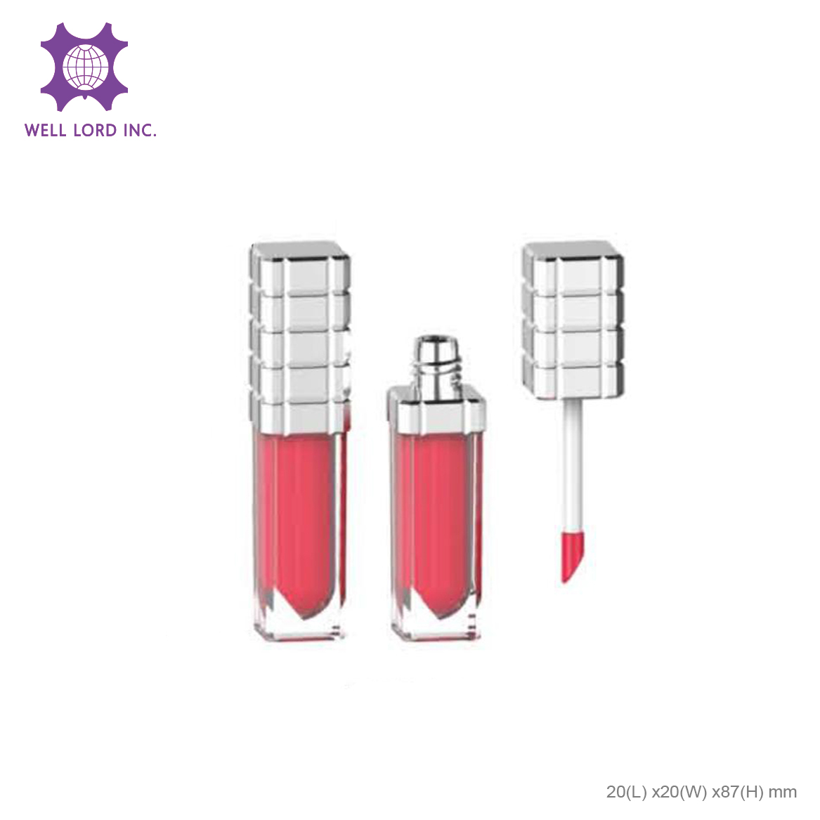 High intensity creamy lip stain matte screw cap with applicator kiss-proof lipstick