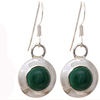 Green malachite earrings 925 sterling silver vintage fashion jewelry manufacturer