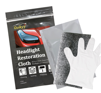 1-Step Headlight Restoration Wipes Car Headlight Cleaner Cloth Instant Removal of Haze and Foggy Lens UV Protection 12 Months