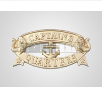 Brass Decoration Captain's Quarters Sign Metal Wall Plaque