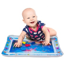 Inflatable baby tummy time premium water play mat for infants & toddlers