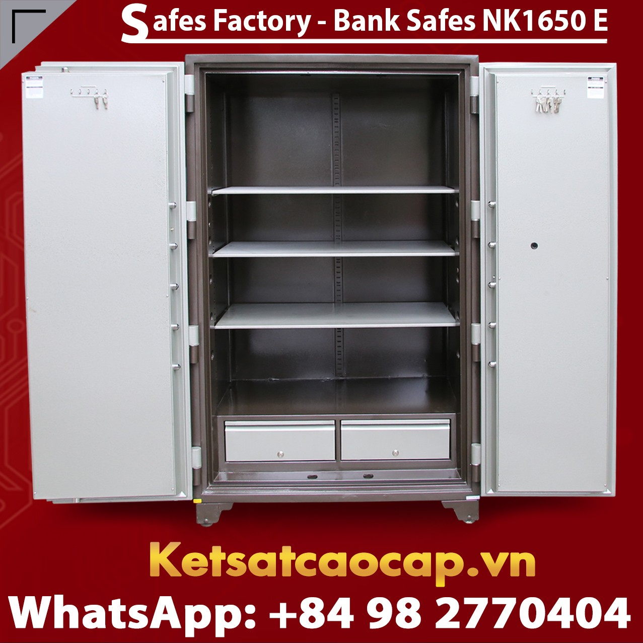 Bank Safe NK 1650 E Two Doors Best Selling Security Large Safe For Bank