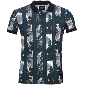 Blue FloralPolo Slim Fit Custom Sports Polo Shirts for Men polo