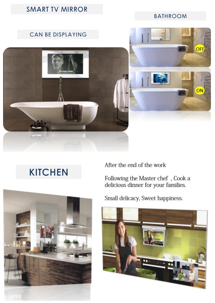 Tele Salle De Bain miroir de tv de salle de bains led 3d magique de publicité