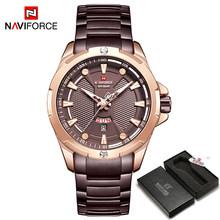 NAVIFORCE военные модные золотые часы, мужские роскошные кварцевые наручные часы, спортивные повседневные часы, водонепроницаемые часы, мужски...(China)