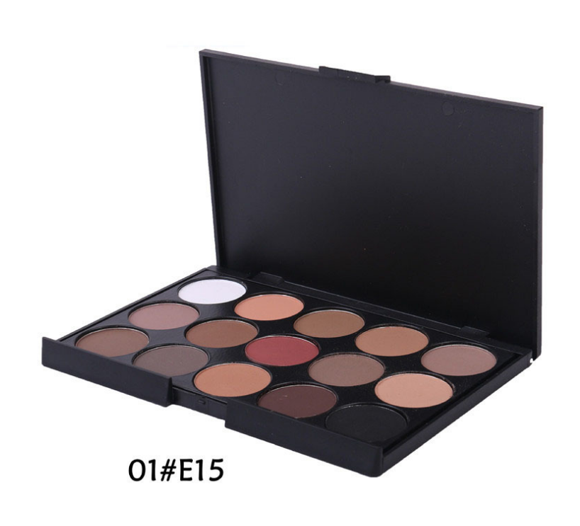 Hot Selling 15 Colors Manufacture Romantic Color Glitter Private Label Makeup Cream Eye Shadow Palette