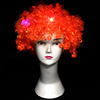 Carnival Wigs Colorful Wigs Clown hair NEW Light Up Flashing LED Rainbow Wig