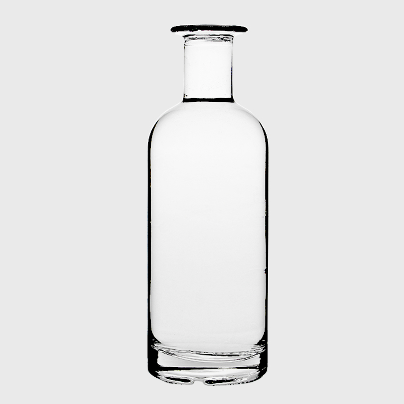 Wholesale Empty Transparent Ultra Flint 70cl Gin Rum Whiskey 750ml 700ml Vodka Round Container White Glass Screw Cap Bottles