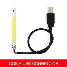 DC5V светодиодный светильник COB полоса 80 мм бар светильник s светодиодный 5 В лампа питание от USB компьютера красный синий зеленый белый цвет DIY ...(Китай)