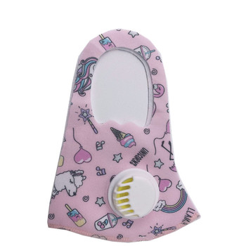 Carton Printed Cotton Face Cover Mouth-muffle for Children Kids PM2.5 Mouth Shade With 2 Filters.