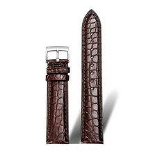 Подлинная американский крокодиловой кожи аллигатора, ремешок, кожаный ремешок для наручных часов для Rolex Omega IWC DW 12 мм 14 мм 16 мм 18 мм/20 мм/22 мм(Китай)