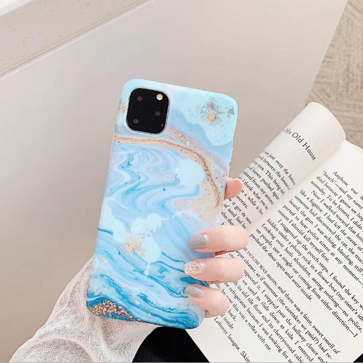 Cute White Blue Marble case cover for iphone 11 pro max