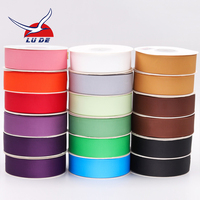 Wholesale custom 100% polyester plain grosgrain ribbon roll