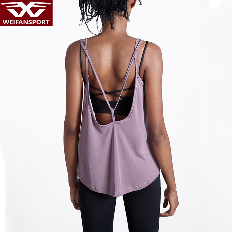 Phụ nữ Sexy backless halter tank top