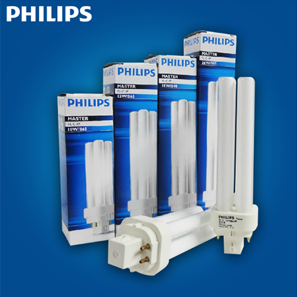 PHILIPS MASTER PL-C 10W/13W/18W/26W 830/840/865 2P/4P 1CT_5X10BOX PLC G24Q G24D Fluorescence tube ready to ship
